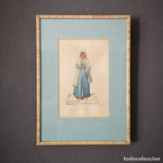 Arte: ANTIGUA ACUARELA ORIGINAL FIRMADO V. FENECH FENECH TITULADO SMIRNIOTTA Nº43 FINALES S XVIII. Lote 205511156