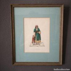 Art: ANTIGUA ACUARELA ORIGINAL FIRMADO V. FENECH TITULADO ALBANESE Nº12 FINALES S XVIII. Lote 205511833