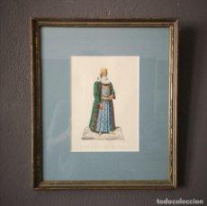 Art: ANTIGUA ACUARELA ORIGINAL FIRMADO V. FENECH TITULADO ARMENIA JUDDITA PERSIA Nº41 FINALES S XVIII. Lote 205514943