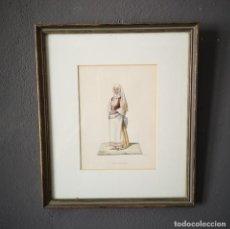 Arte: ANTIGUA ACUARELA ORIGINAL FIRMADO V. FENECH TITULADO BANDIOTTA Nº32 FINALES S XVIII. Lote 205515372