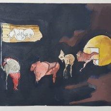Arte: DIBUJO ABSTRACTO FIRMA SILVIA 78. Lote 205676231