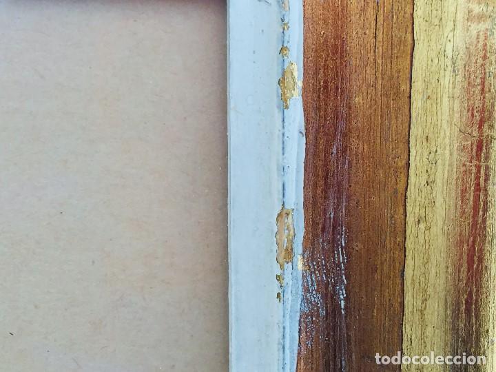 Arte: amparo fernandez gouache sobre papel y esgrafiado tejados balcones casas años 60 55x68cms - Foto 2 - 205814926
