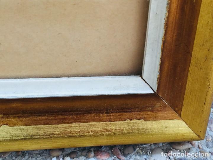 Arte: amparo fernandez gouache sobre papel y esgrafiado tejados balcones casas años 60 55x68cms - Foto 3 - 205814926