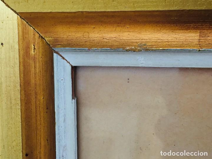 Arte: amparo fernandez gouache sobre papel y esgrafiado tejados balcones casas años 60 55x68cms - Foto 4 - 205814926