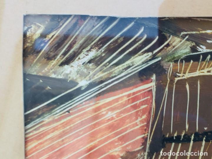 Arte: amparo fernandez gouache sobre papel y esgrafiado tejados balcones casas años 60 55x68cms - Foto 5 - 205814926