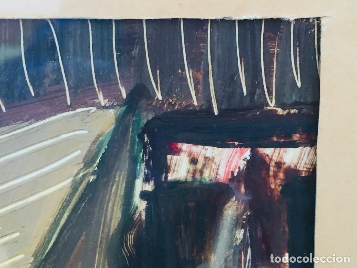 Arte: amparo fernandez gouache sobre papel y esgrafiado tejados balcones casas años 60 55x68cms - Foto 8 - 205814926
