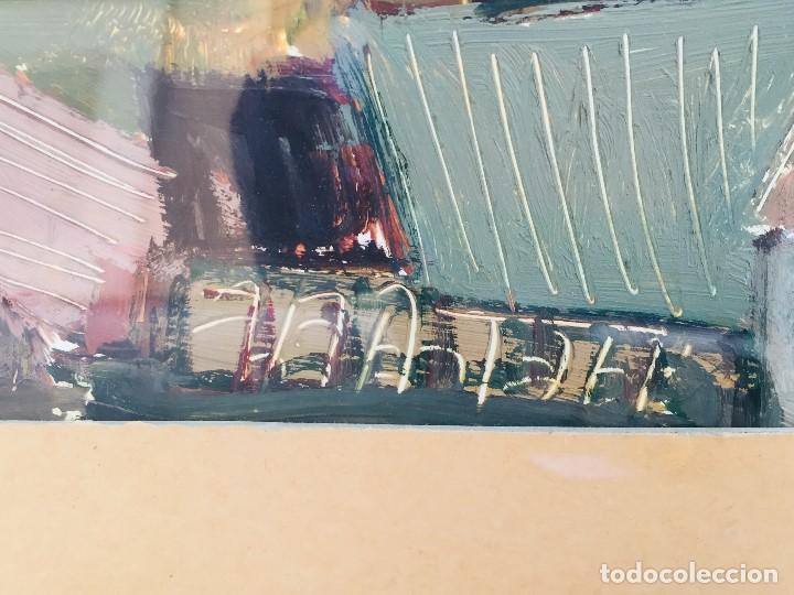 Arte: amparo fernandez gouache sobre papel y esgrafiado tejados balcones casas años 60 55x68cms - Foto 10 - 205814926