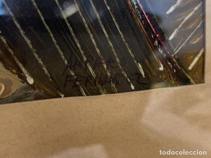 Arte: amparo fernandez gouache sobre papel y esgrafiado tejados balcones casas años 60 55x68cms - Foto 13 - 205814926