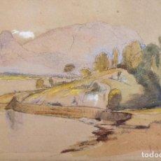 Arte: PRECIOSA MARINA IMPRESIONISTA, FIRMADA Y FECHADA, R.R. 29 AUG. 1956, COLORES CALIDOS. Lote 205901551