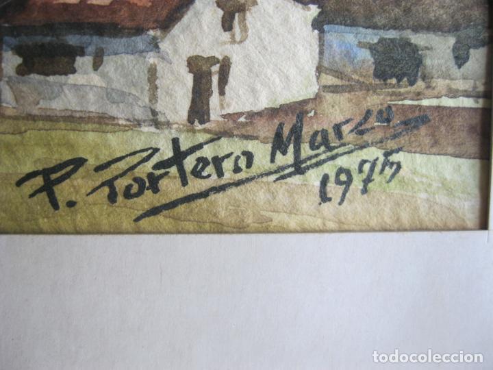 Arte: ACUARELA P. PORTERO MARZO AÑO 1975 MEDIDAS 25 X 17 VER FOTO ADICIONAL - Foto 2 - 206255587