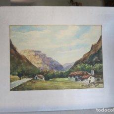Arte: ACUARELA P. PORTERO MARZO AÑO 1975 MEDIDAS 25 X 17 VER FOTO ADICIONAL. Lote 206255587