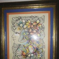 Arte: HERMOSA OBRA ARTE MIXTA DE RENE PORTOCARRERO.. ESTILO LA MÁS COTIZADA Y BUSCADA. Lote 206458257