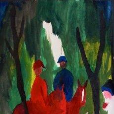 Arte: AUGUST MACKE (1887-1914). (ATRIBUIBLE). ACUARELA/PAPEL 53 X 32 CM. ETIQUETA GRIETTE ET ANIS. PARIS.. Lote 206585026