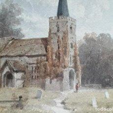 Arte: EDWIN TOOVEY - ESCENA RURAL (1860). Lote 206824576
