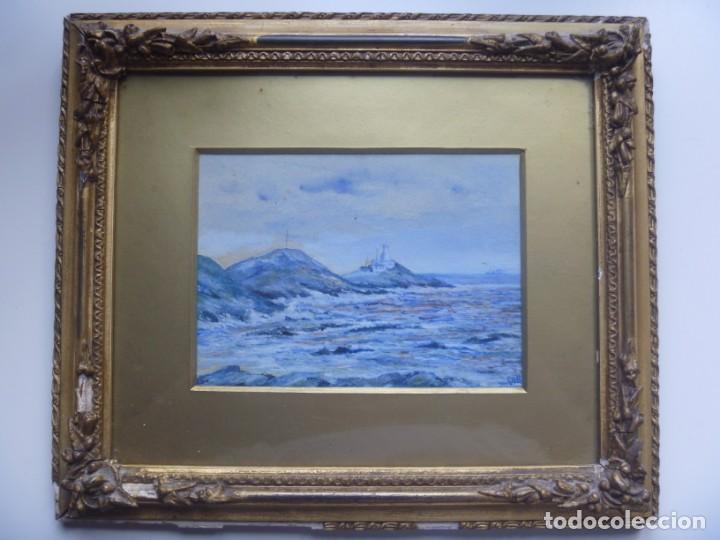 GEORGE HENDRIK BREITNER ORIGINAL MARINE WATERCOLOR HOLAND PAINTING MUSEUM PIECE HIGH COLLECTION (Arte - Acuarelas - Modernas siglo XIX)