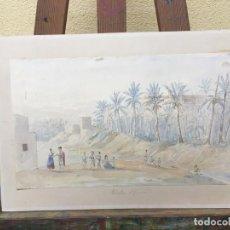 Arte: ACUARELA ELCHE, C. 1900, TRAJES TÍPICOS.. Lote 207199650