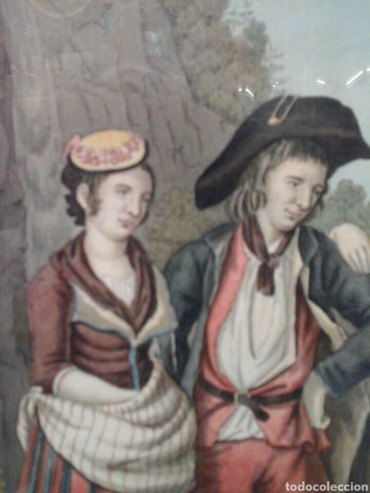 Arte: Acuarela francesa Costumes de Vallais S.XVIII - Foto 3 - 207605637