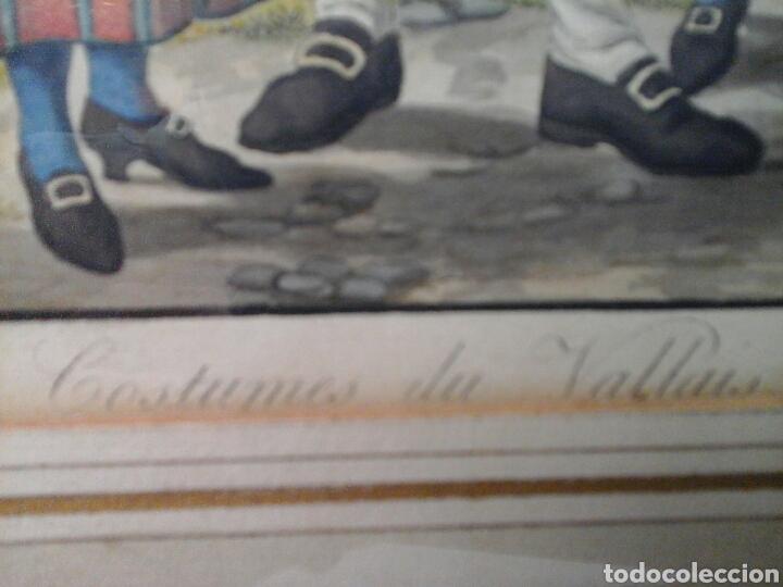 Arte: Acuarela francesa Costumes de Vallais S.XVIII - Foto 6 - 207605637