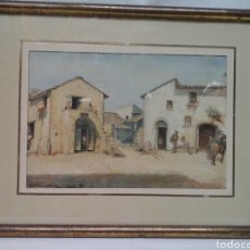 Arte: ACUARELA ITALIANA NETTUNO 1865 FIRMADA JB. Lote 207606117