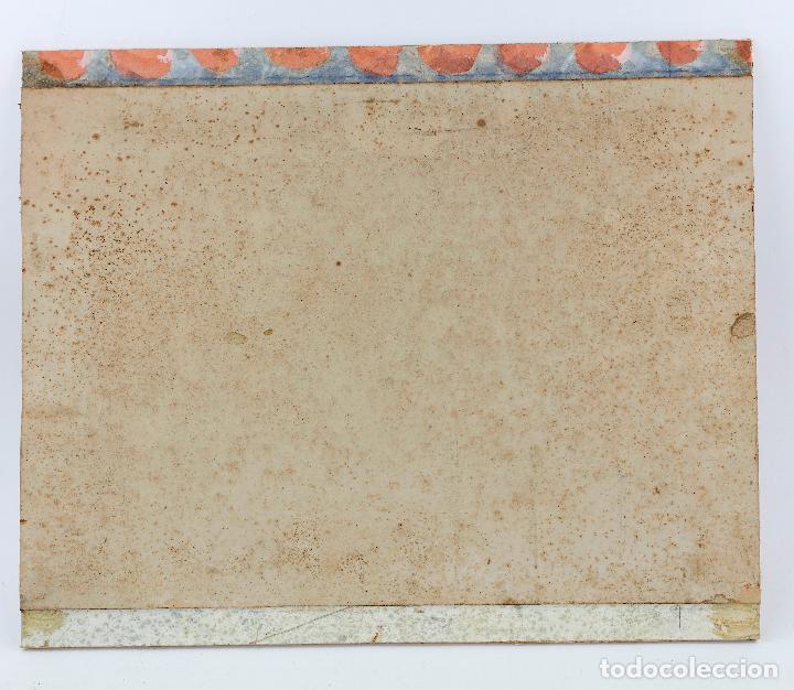 Arte: Salvador Alarma (1870 - 1941), acuarela, escenografía para teatro, ruinas, 1931, con dedicatoria. - Foto 6 - 207686531