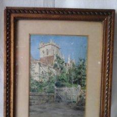 Arte: ACUARELA FRANCESA DE GEORGES CLAUDE 1854-1921 (NOTRE DAME DE DIVES ). Lote 207739623