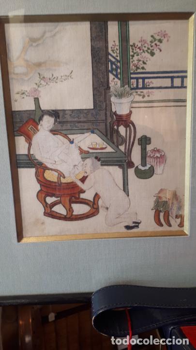 Arte: PINTURAS ERÓTICAS,JAPÓN S.XIX. - Foto 2 - 207807205
