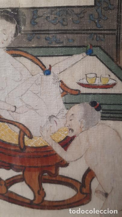 Arte: PINTURAS ERÓTICAS,JAPÓN S.XIX. - Foto 3 - 207807205