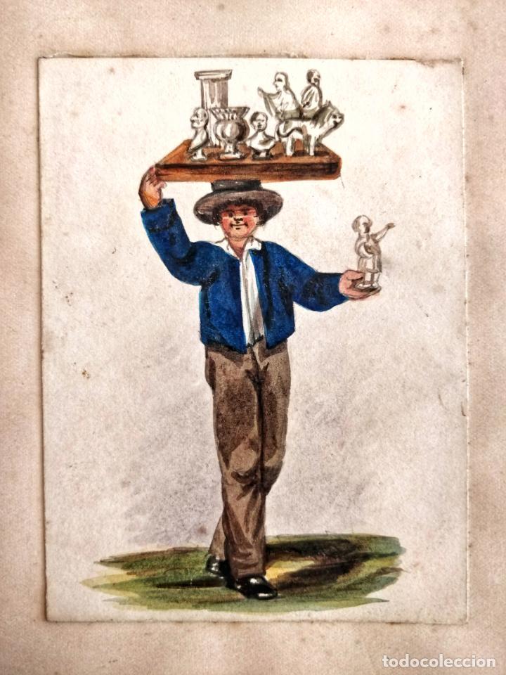 INTERESANTE RETRATO DE UN ESCULTOR, 200 AÑOS DE ANTIGÜEDAD, PRINCIPIOS DEL SIGLO XIX (Arte - Acuarelas - Antiguas hasta el siglo XVIII)