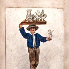Arte: INTERESANTE RETRATO DE UN ESCULTOR, 200 AÑOS DE ANTIGÜEDAD, PRINCIPIOS DEL SIGLO XIX. Lote 207925487