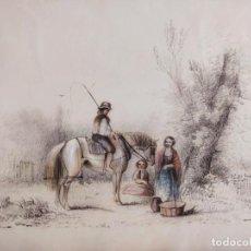 Arte: EXQUISITA ESCENA ORIGINAL DE FINALES DEL SIGLO XVIII, MUY BIEN EJECUTADA, GRAN CALIDAD. Lote 207928540