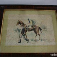 Arte: RAFAEL ESTRANY I ROS (MATARÓ, 1884 - BARCELONA, 1958) ACUARELA PAPEL. Lote 209021228