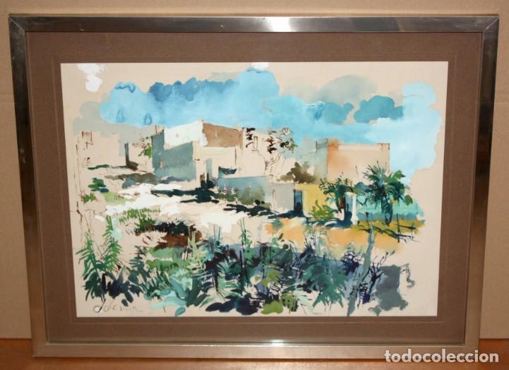 Arte: JOAN SERRA MELGOSA (Lleida 1899 - Barcelona 1970) TÉCNICA MIXTA SOBRE PAPEL. PAISAJE - Foto 2 - 209108142