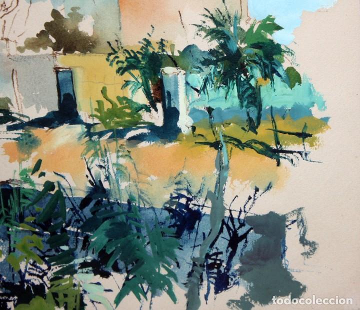 Arte: JOAN SERRA MELGOSA (Lleida 1899 - Barcelona 1970) TÉCNICA MIXTA SOBRE PAPEL. PAISAJE - Foto 5 - 209108142
