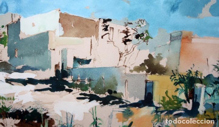 Arte: JOAN SERRA MELGOSA (Lleida 1899 - Barcelona 1970) TÉCNICA MIXTA SOBRE PAPEL. PAISAJE - Foto 6 - 209108142