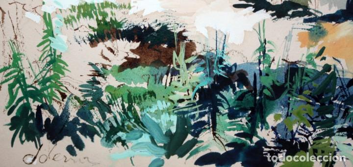 Arte: JOAN SERRA MELGOSA (Lleida 1899 - Barcelona 1970) TÉCNICA MIXTA SOBRE PAPEL. PAISAJE - Foto 8 - 209108142
