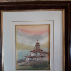 Arte: MAGNÍFICA ACUARELA, FIRMADA JAVIER RUIZ, MADRID 1959. Lote 209113260