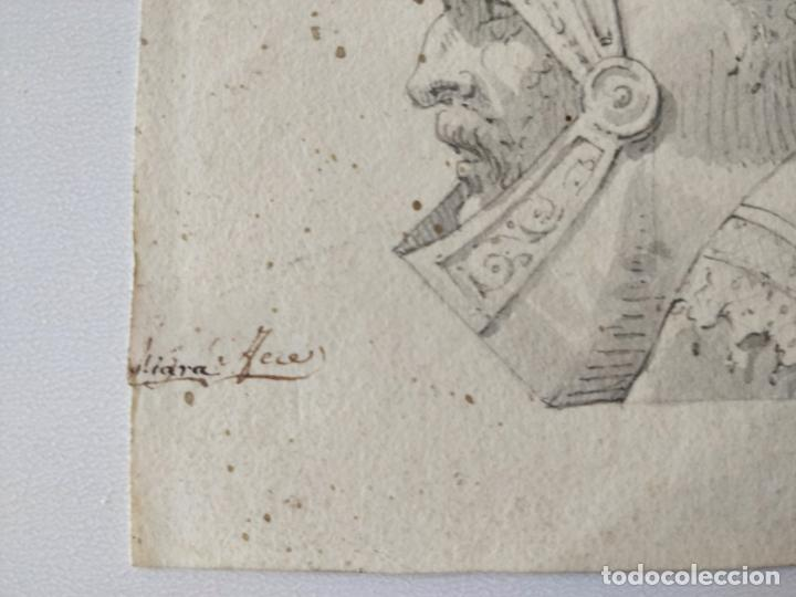 Arte: Magistral retrato original en acuarela de un caballero, firmado, siglo XVIII, excelente calidad - Foto 2 - 209116933