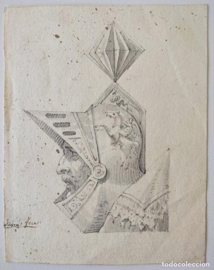 MAGISTRAL RETRATO ORIGINAL EN ACUARELA DE UN CABALLERO, FIRMADO, SIGLO XVIII, EXCELENTE CALIDAD (Arte - Acuarelas - Antiguas hasta el siglo XVIII)