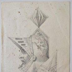 Arte: MAGISTRAL RETRATO ORIGINAL EN ACUARELA DE UN CABALLERO, FIRMADO, SIGLO XVIII, EXCELENTE CALIDAD. Lote 209116933