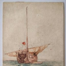 """Arte: EXCELENTE ACUARELA ORIGINAL JAPONESA DE FINALES DEL SIGLO XIX, FIRMADO Y. SUZUKI """"KAMAKURA OF MISHI"""". Lote 209120877"""