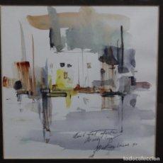Arte: ACUARELA DE JOSEP MARTÍNEZ LOZANO DEL AÑO 1996.BUEN TRAZO Y BIEN ENMARCADO.DEDICADA.. Lote 209267615