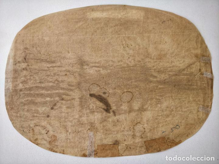 Arte: Excelente acuarela original escuela holandesa del siglo XVII, sepia, gran calidad - Foto 3 - 209418208