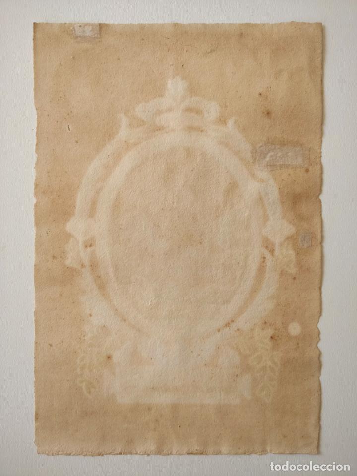 Arte: Excelente acuarela original firmada M. Crivelli y fechada en 1816, Meum est consilium - Foto 2 - 209419605