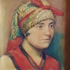 Arte: ANDRÉS GOÑI GALLEGO (VALENCIA 1886- ?) JOVEN CAMPESINA (NORTE DE ESPAÑA?) ACUARELA / PAPEL 20 X 16. Lote 209570393