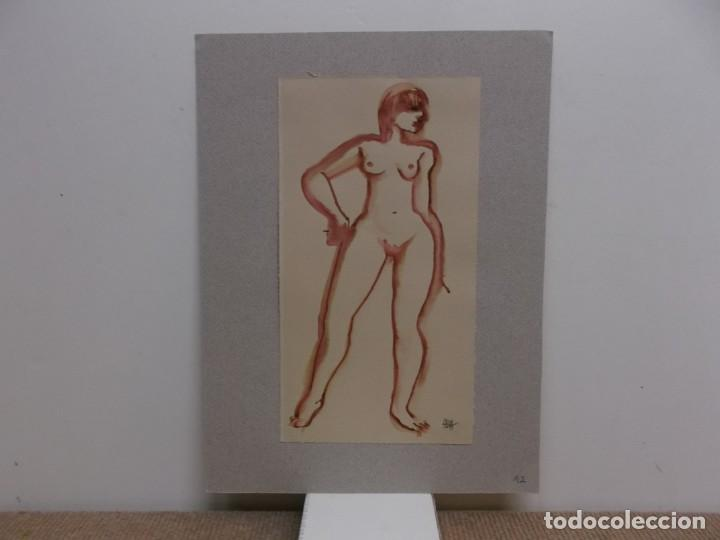 ACUARELA JOSE MARÍA DE LABRA (Arte - Acuarelas - Contemporáneas siglo XX)