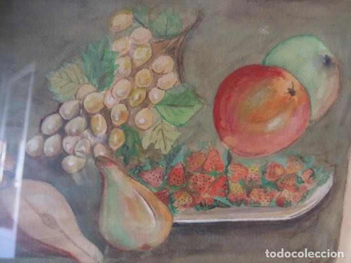Arte: CUADRO BODEGÓN ACUARELA ORIGINAL - Foto 2 - 209943160
