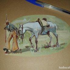 Arte: ACUARELA DEL PINTOR TAURINO ALVAREZ CARMENA, ORIGINAL FIRMADO. Lote 210037105