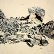 Arte: AUGUST PUIG I BOSCH (BARCELONA, 1929 - 1999) TECNICA MIXTA SOBRE PAPEL. ABSTRACCION. Lote 210362781