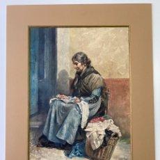 Arte: JULIO GARCIA MENCIA , ACUARELA DEL AÑO 1912 , MADRID. Lote 184260637