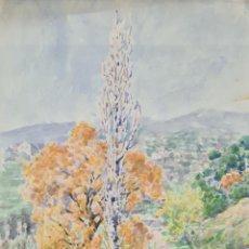 Arte: CAMINO RURAL. ACUARELA SOBRE PAPEL. JULIAN DEL POZO Y LA ORDEN. 1931.. Lote 210647009